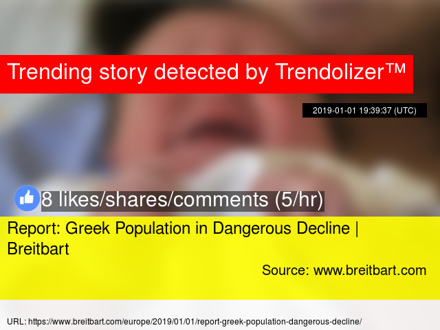 Report: Greek Population in Dangerous Decline | Breitbart