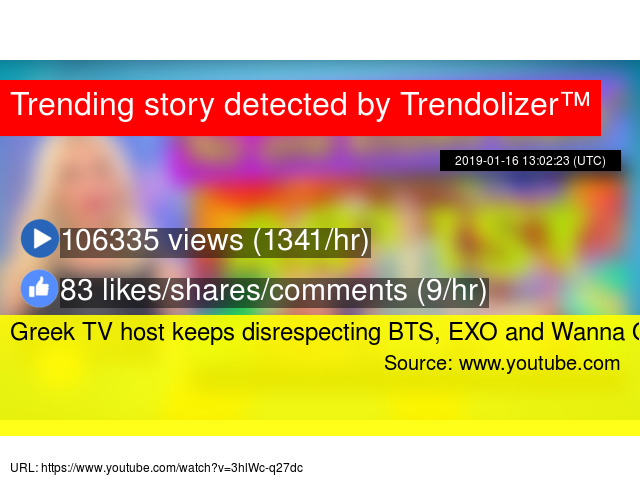Greek TV host keeps disrespecting BTS, EXO and Wanna One