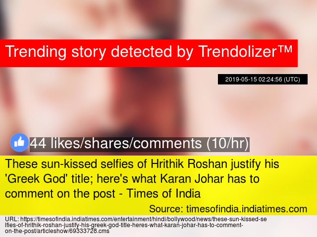 These sun-kissed selfies of Hrithik Roshan justify his