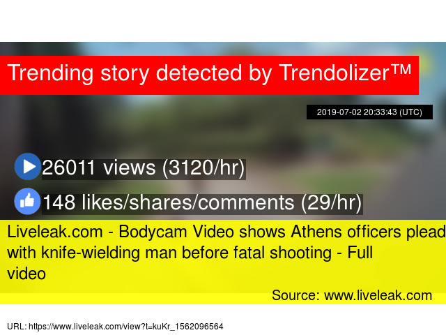 Liveleak com - Bodycam Video shows Athens officers plead with knife