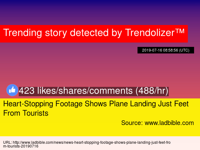 Heart-Stopping Footage Shows Plane Landing Just Feet From