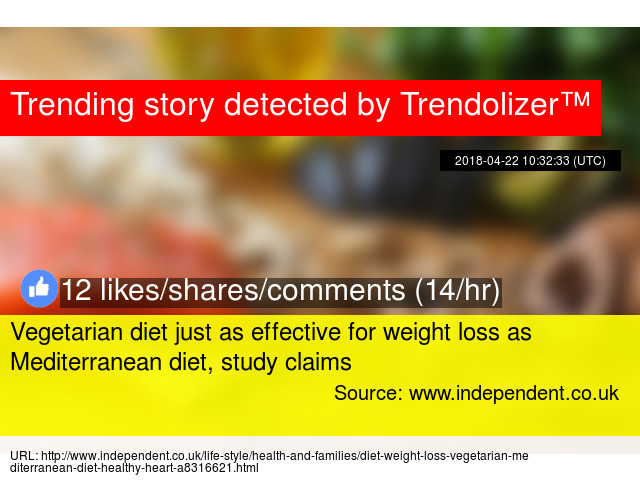 Vegetarian diet just as effective for weight loss as