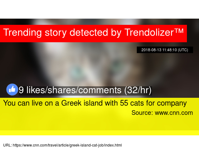 You can live on a Greek island with 55 cats for company