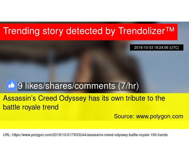 Assassin's Creed Odyssey has its own tribute to the battle royale trend